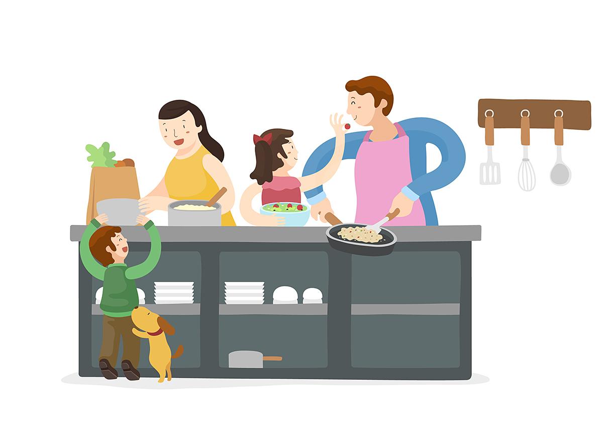 요리 조리 성평등, 부모와 자녀가 함께 만드는 '패밀리셰프' 관련 이미지