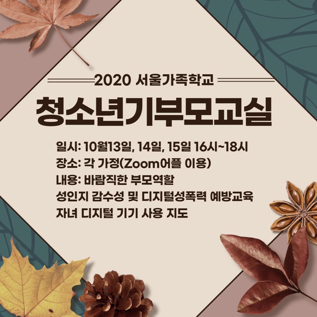 [강서구]청소년기부모교실(온라인)