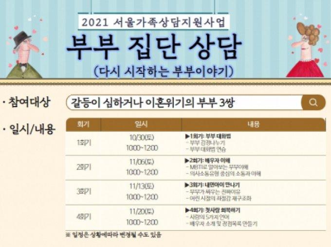 [광진구] 2021 서울가족상담지원사업 부부집단상담프로그램