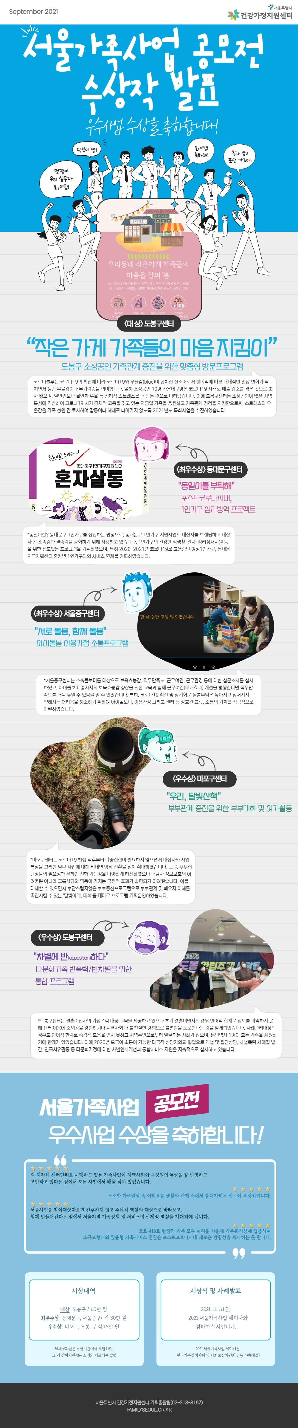 2021 서울가족사업 공모전
